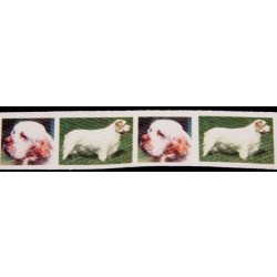 1 Inch Clumber Spaniel Cotton Ribbon - Various Lengths