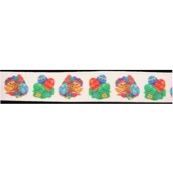 1 Inch Easter Eggs and Easter Chick Cotton Ribbon - Various Lengths