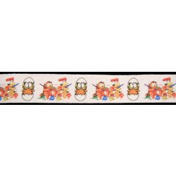 1 Inch Garfield & Odie Color Eggs Cotton Ribbon, 1 Yard