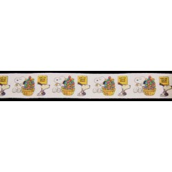 1 Inch Snoopy's Easter Eggs Cotton Ribbon, 1 Yard