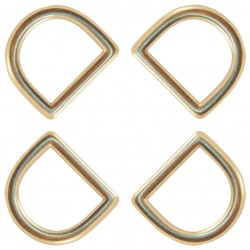 Country Brook Design® 1 Inch Solid Brass Die Cast Square Bottom D-Rings
