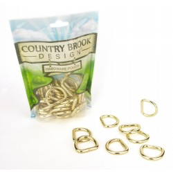 Country Brook Design® 1 Inch Brass Plated Welded D-Rings