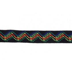 1 Inch Fiber Optic Zigzag Woven Ribbon