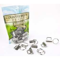 Country Brook Design® 1 1/4 Inch Key Chain Fob Wristlet Hardware Sets with Key Ring