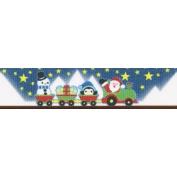 7/8 Inch Arctic Express Grosgrain Ribbon Closeout, 1 Yard
