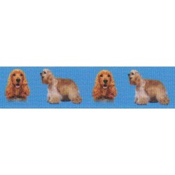 7/8 Inch Cocker Spaniel Grosgrain Ribbon