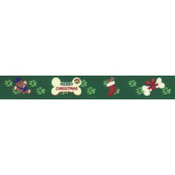 Doggy Christmas Grosgrain Ribbon