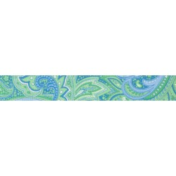 Green Paisley Grosgrain Ribbon