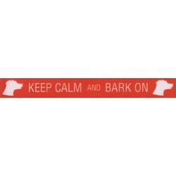 5/8 Inch Keep Calm and Bark On Grosgrain Ribbon Closeout, 1 Yard