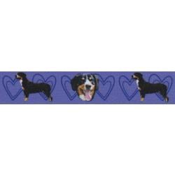 7/8 Inch Purple Entlebucher Mountain Dog Grosgrain Ribbon