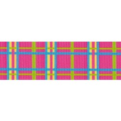 Spring Pink Plaid Grosgrain Ribbon
