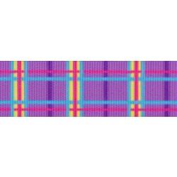 Spring Purple Plaid Grosgrain Ribbon