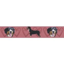 7/8 Inch Red Entlebucher Mountain Dog Grosgrain Ribbon
