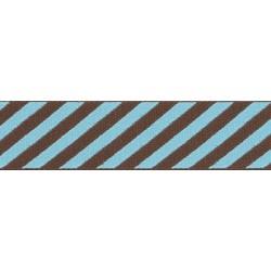 Robin's Egg Stripes Grosgrain Ribbon