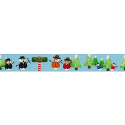 Snowman Party Grosgrain Ribbon