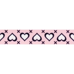 Stitched Hearts Grosgrain Ribbon