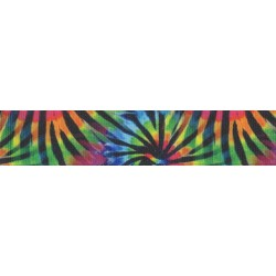 Tie Dye Stripes Grosgrain Ribbon