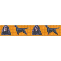 7/8 Inch Gordon Setter Grosgrain Ribbon