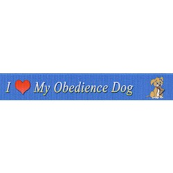 5/8 Inch I Love My Obedience Dog Grosgrain Ribbon Closeout, 1 Yard