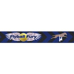5/8 Inch Flyball Fury Grosgrain Ribbon Closeout, 5 Yards