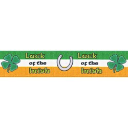 7/8 Inch Luck of the Irish Grosgrain Ribbon Closeout, 1 Yard