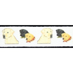Labrador Retriever Cotton Ribbon - Various Lengths & Widths
