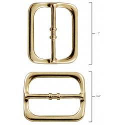 3/4 Inch Brass Plated Frame Metal Round Triglide Slides Closeout