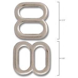 3/8 Inch Metal Round Triglide Slides Closeout