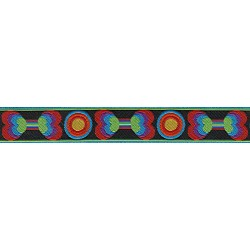Funkadelic Bones Jacquard Ribbon Closeout-Various Widths & Lengths Available