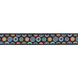 5/8 Inch Ring a Ding Jacquard Ribbon Closeout - Various Lengths Available