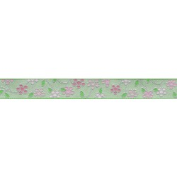 5/8 Inch Fresh Spring Floral Jacquard Ribbon Closeout - Various Lengths Available