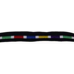 7/16 Inch Rainbow Brick Road Woven Jacquard Braid Ribbon - Various Lengths