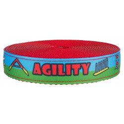 1 Inch Agility Course on Red Nylon Webbing