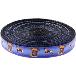1 Inch Boxer Ribbon on Black Nylon Webbing