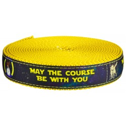 1 Inch Course Be With You on Gold Nylon Webbing