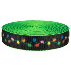 1 Inch Radiant Lights on Hot Green Nylon Webbing