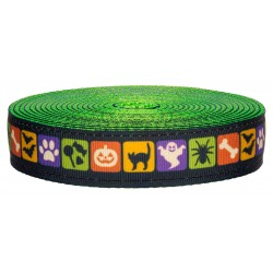 1 Inch Shadows in the Nite on Hot Lime Green Nylon Webbing