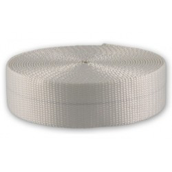 2 Inch White Polyester Super Heavy Webbing Closeout