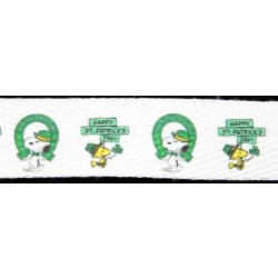 Snoopy St. Patrick's Day Cotton Ribbon - Various Widths