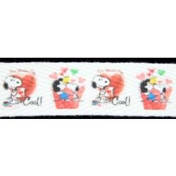 Snoopy Valentine's Cool Cotton Ribbon - Various Lengths & Widths