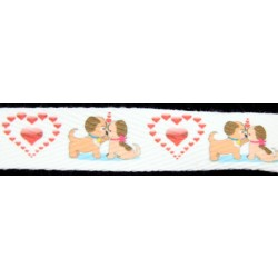 Valentine's Sweet Hearts Cotton Ribbon - Various Widths