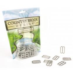 Country Brook Design® 1 Inch Metal Round Triglide Slides
