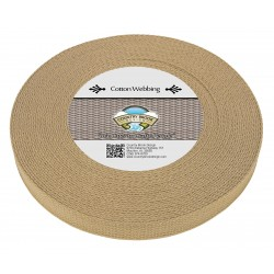 1 Inch Camel Heavy Cotton Webbing