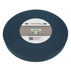 1 Inch Navy Blue Heavy Cotton Webbing