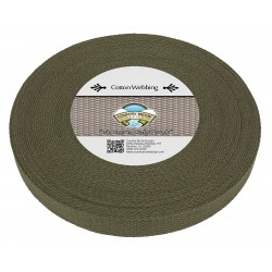 1 Inch Olive Drab Green Heavy Cotton Webbing