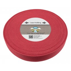 1 1/2 Inch Red Heavy Cotton Webbing