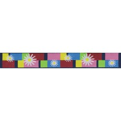 Daisy Blocks Jacquard Ribbon Closeout-Various Widths & Lengths Available