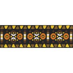 1 3/4 Inch Wide Orange and Brown Circles Woven Jacquard Braid Ribbon