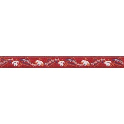 3/8 Inch Red Angel/Devil Jacquard Ribbon Closeout