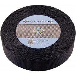 2 Inch Black Heavy Nylon Webbing